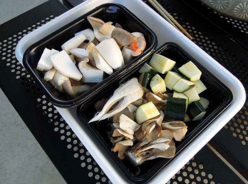 きのこ類や野菜