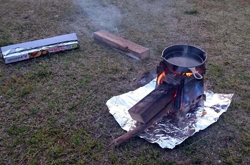 スキレットでステーキを焼く